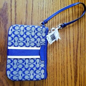 NEW AUTHENTIC SIGNATURE BLUE COACH WRISTLET